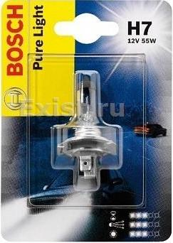 Лампа галогеновая Bosch Pure Light, H7