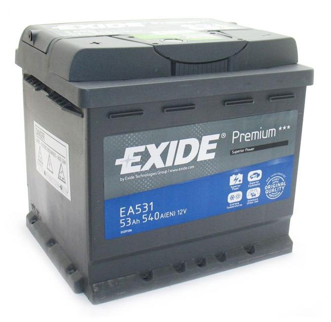 Аккумулятор Exide Premium 53A, R+