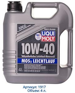 Liqui Moly MoS2 Leichtlauf 10W-40, 4 л.