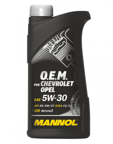 Mannol 7701 O.E.M. for Chevrolet Opel  5W-30, 1 л.