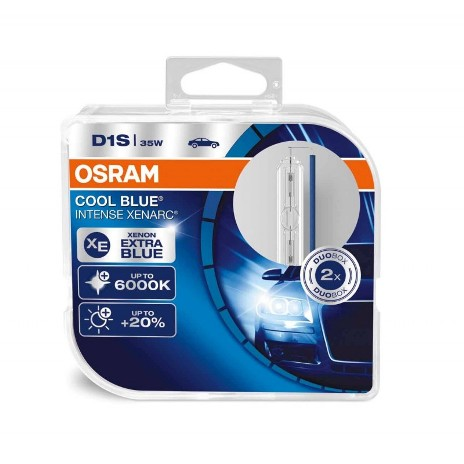 Osram Cool Blue Intense Xenarc, D1S 6000K, комплект 2 шт. (66140CBI-DUOBOX)
