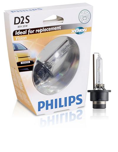 Philips Xenon Vision D2S, ксенон 4400K (85122VIS1)