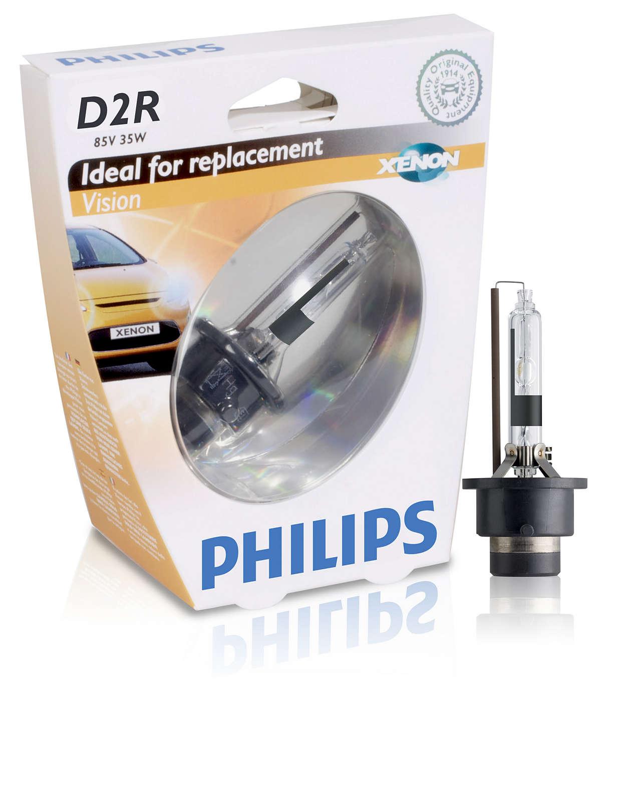 Philips Xenon Vision D2R, ксенон 4400K (85126VIS1)