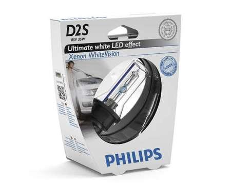 Philips White Vision D2S, ксенон 5000K (85122WHVS1)