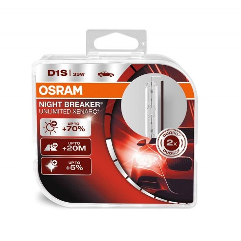Osram Night Breaker Unlimited Xenarc D1S,  4350K комплект 2 шт. (66140XNB-DUOBOX)