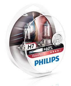 Лампы галогеновые Philips VisionPlus, H7