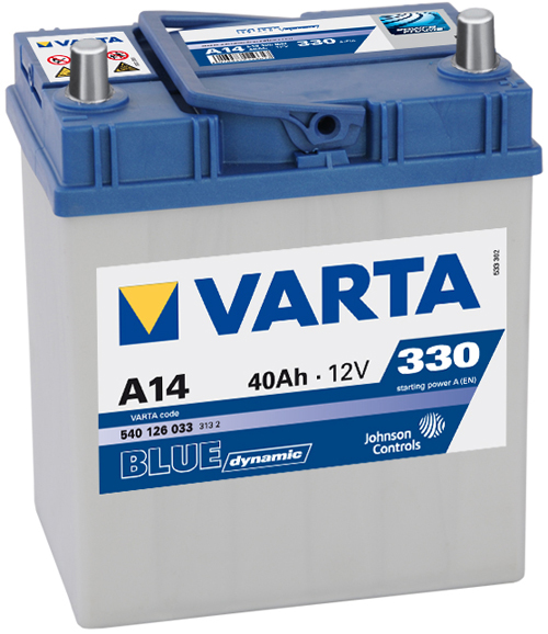 Аккумулятор Varta Blue Dynamic 40A, R+