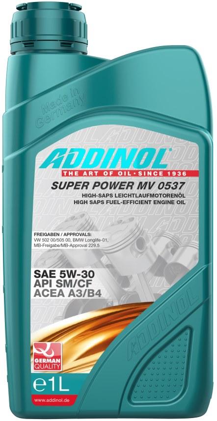 Масло моторное Addinol Super Power MV 0537 5W-30, 1 л.