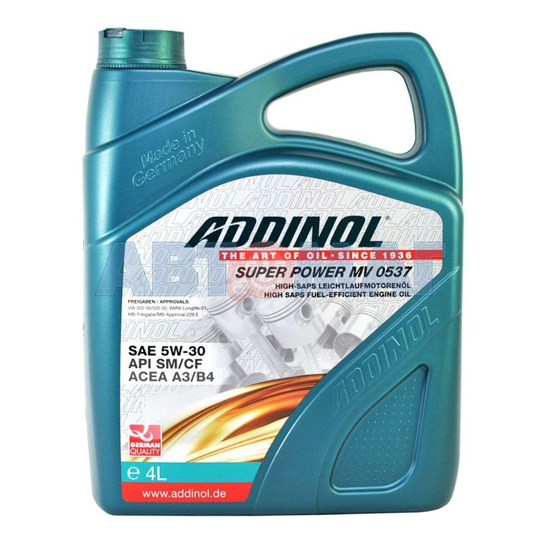 Масло моторное Addinol Super Power MV 0537 5W-30, 4 л.