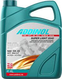 Масло моторное Addinol Super Light 0540 5W-40, 4 л.