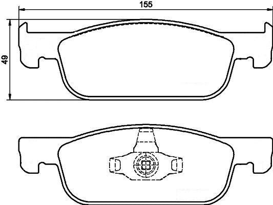Колодки тормозные Lada X-Ray передние