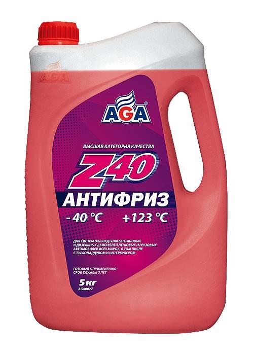 Антифриз AGA Premix красный, 5 кг.
