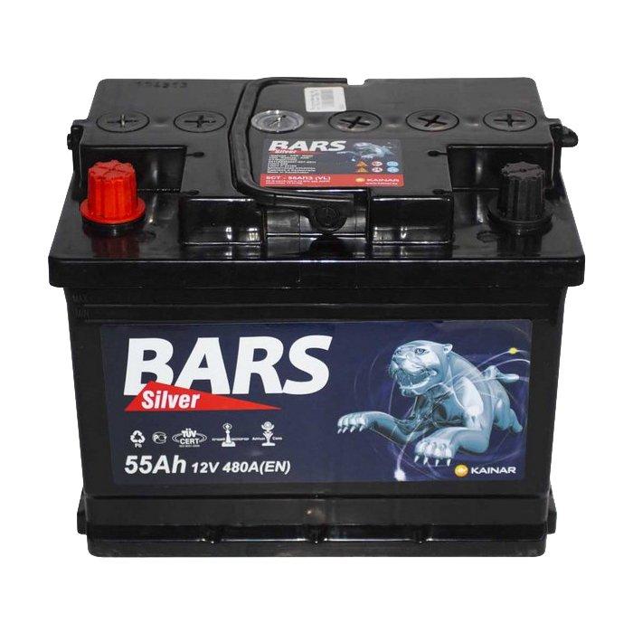 Аккумулятор Bars Silver 55A, L+