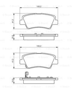 Колодки тормозные Hyundai Solaris 10-/Sonata V (NF) 05-/Kia Soul 09- задние.
