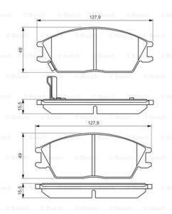 Колодки тормозные Hyundai Accent/Getz передние.