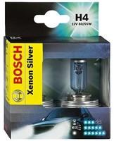 Лампы автомобильные Bosch Xenon Silver H4, комплект 2 шт.