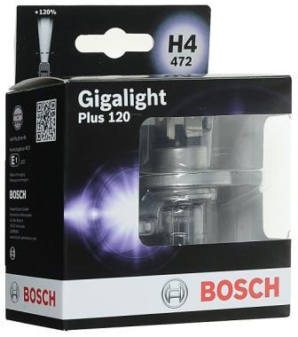 Лампы автомобильные Bosch Gigalight Plus 120 H4, комплект 2 шт.