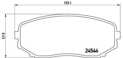 Колодки тормозные Mazda CX-7/CX-9 07- передние.