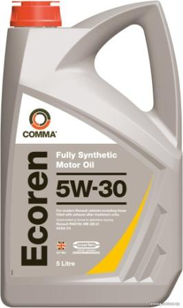 Масло моторное Comma Ecoren 5W-30, 5 л.