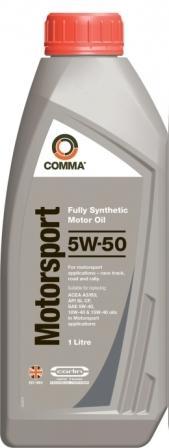 Масло моторное Comma Motorsport 5W-50, 1 л.