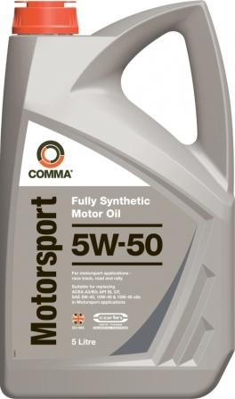 Масло моторное Comma Motorsport 5W-50, 5 л.