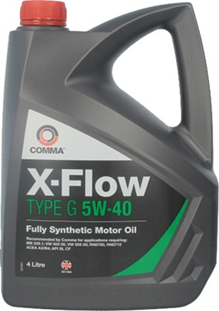 Масло моторное Comma X-Flow Type G 5W-40, 4 л.