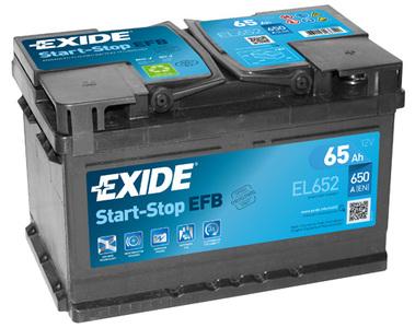 Аккумулятор Exide Start-Stop 65A, R+