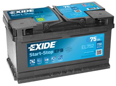 Аккумулятор Exide Start-Stop 75A, R+