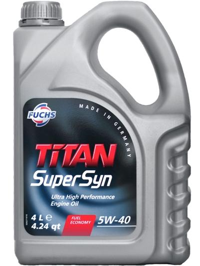 Масло моторное Fuchs Titan SuperSyn 5W-40, 4 л.