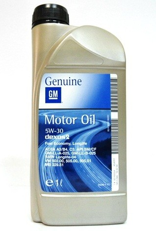 Масло моторное GM Dexos 2 5W-30, 1 л.