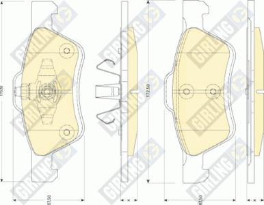 Колодки тормозные Ford Maverick/Mazda Tribute 2.4-3.0 04- передние.