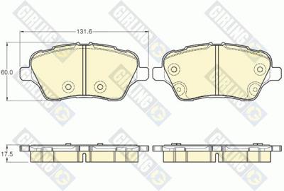 Колодки тормозные Ford B-Max/Fiesta 12-/Transit Courier 14- передние.