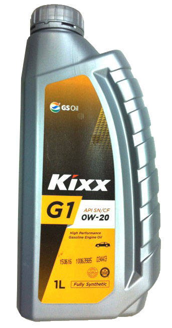 Масло моторное Kixx G1 SN 0W-20, 1 л.