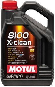 Масло моторное Motul 8100 X-Clean C3 5W-40, 5 л.