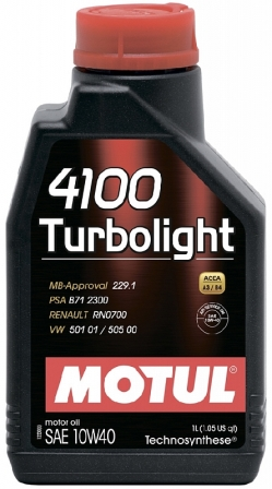 Масло моторное Motul 4100 Turbolight 10W-40, 1 л.
