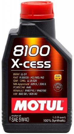 Масло моторное Motul 8100 X-cess 5W-40, 1 л.