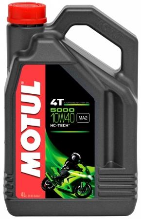 Масло моторное Motul 5000 4T 10W-40, 4 л.