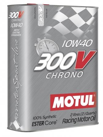 Масло моторное Motul 300V Chrono 10W-40, 2 л.