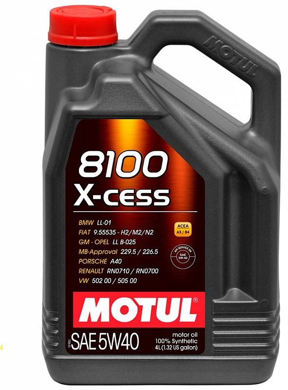 Масло моторное Motul 8100 X-cess 5W-40, 4 л.