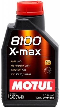 Масло моторное Motul 8100 X-Max 0W-40, 1 л.