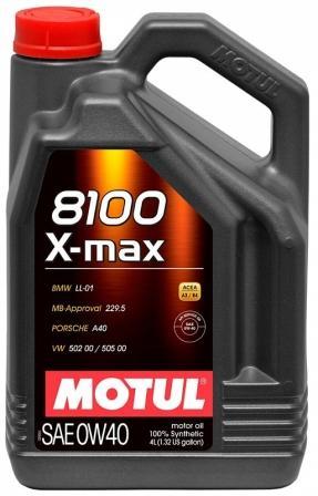 Масло моторное Motul 8100 X-Max 0W-40, 4 л.
