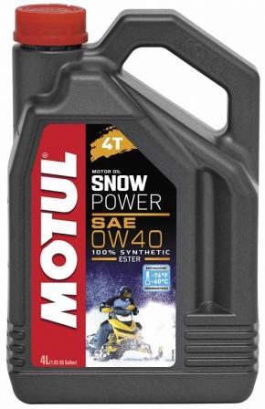 Масло моторное Motul Snowpower 4T 0W-40, 4 л.