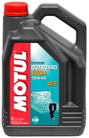 Масло моторное Motul Outboard Tech 4T 10W-40, 5 л
