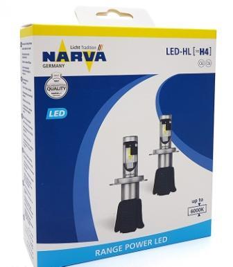 Лампы автомобильные Narva Range Power LED 6000K H4, комплект 2 шт.