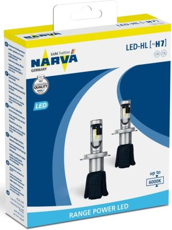 Лампы автомобильные Narva Range Power LED 6000K H7, комплект 2 шт.