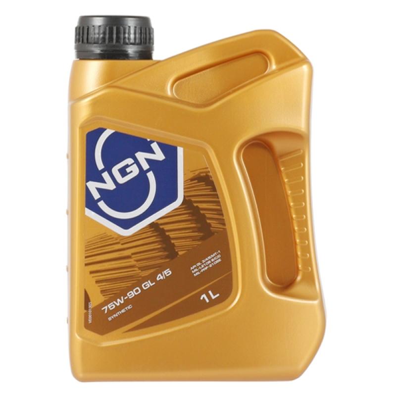 Масло трансмиссионное NGN 75W-90 GL4/5, 1 л.