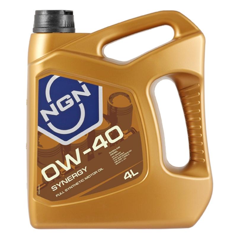 Масло моторное NGN Synergy 0W-40, 1 л.