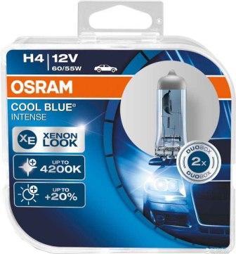 Лампы автомобильные Osram Cool Blue Intense H4 комплект 2 шт