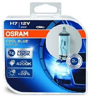 Лампы автомобильные Osram Cool Blue Intense H7 комплект 2 шт