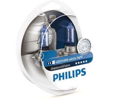 Лампы автомобильные Philips Diamond Vision 5000K H4 комплект 2 шт.